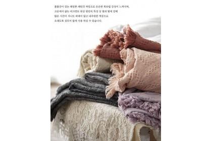 韓國立體編織 x 波希米亞 x 復古風 x 萬用毯