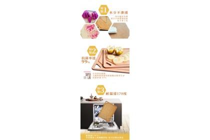 Shueann x 台灣品幸福 不發霉超抗菌木纖維砧板(大+小)