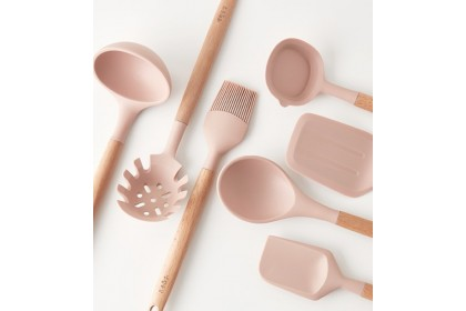 韓國高級粉紅色矽膠煮食用具系列